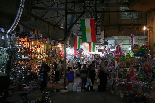 Mercado Qaysari em Erbil Iraque Região Curdistão