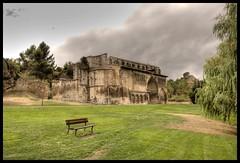 IGLESIA DEL SANTO SEPULCRO - ESTELLA/LIZARRA (SPAIN) (ABUELA PINOCHO ) Tags: españa spain banco iglesia nubes navarra estella lizarra santosepulcro