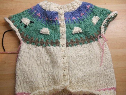 Sheep Yoke baby cardigan