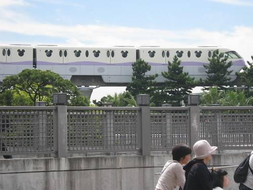 The Tokyo Disney monorail. Notice the brilliant attention to detail, down to the Mickey Mouse-shaped windows.