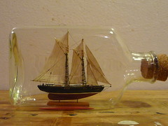 Ship in Bottle by chobbs (charleswesleyhobbs) Tags: bottle ship charlie hobbs unemployment