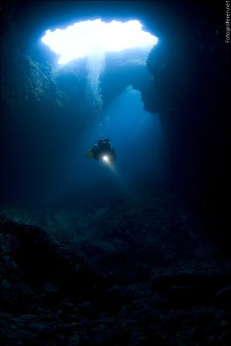 Diving the Blue Hole in Korčula, Croatia