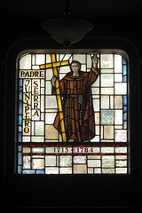 San Francisco - Mission District: Mission Dolores Basilica - Father Junpero Serra (wallyg) Tags: sf sanfrancisco california ca church basilica stainedglass sanfranciscobayarea bayarea missiondistrict stainedglasswindow missiondolores fatherjuniperoserra missiondoloresbasilica fatherjunperoserra
