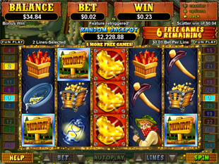 free Pay Dirt! slot bonus game