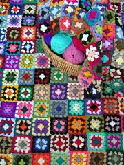 a new granny in the making (fiona thornton) Tags: square acrylic crochet yarn blanket colourful granny nannymcpheeblanket