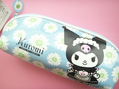 Sanrio My Melody's Friend Kuromi Pen/Pencil Case Japanese Anime (Kawaii Japan) Tags: blue black anime flower cute rabbit bunny floral smile animals japan shop pen shopping asian happy japanese store nice friend pretty character adorable case cutie goods sanrio collection plastic purse pouch stuff kawaii fancy accessories lovely cuteness stationery goodies pvc pencilcase stationary zakka pencase mymelo