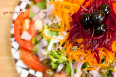 colorful semi-abstract salad (light thru my lens) Tags: colors salad bokeh colores desenfoque ensalada lvm amanida niftyfifty canon50mmf14usm desenfoc lesvoltes lavueltaalmundo lightthrumylens