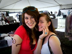 Cortney and Catie (leespicedragon) Tags: show park original friends red sexy art fall silver skull gold centennial 3d artist dress tn nashville designer handmade craft fair jewelry master copper craftsman catie forged pagan lapidary taca fashionjewelry cortny marvinleebillings firehammer cortneywilson tacwest