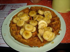 Caribbean Waffle at The Friendly Toast