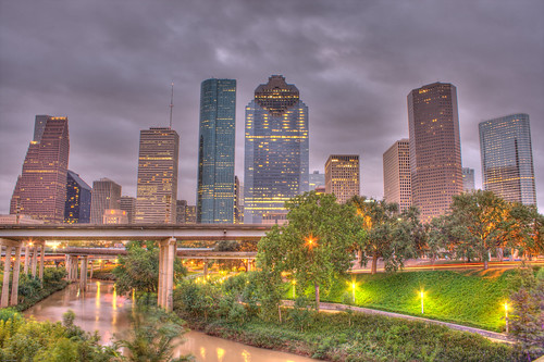 Houston Downtown Early Morning HDR