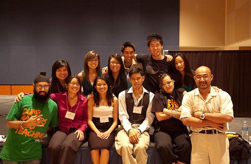 group photo, Friday night
