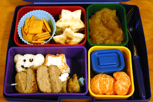 Kindergartner Bento #247: October 13, 2009