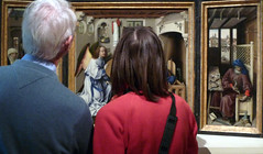 Merode Altarpiece with Viewers Close