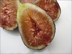 Freshly Cut Mission Figs