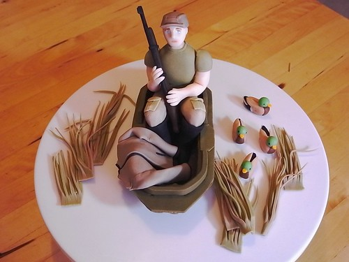 Duck Hunting Scene cake topper