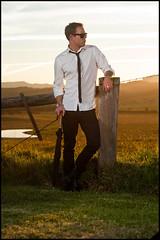 South Coast Sunset - Self Portraits (Simon Wilde Photography) Tags: sunset portrait sun mountain self outside coast model nikon warm portait south flash 14 sb600 85mm flare roadside nikkor softbox paddock gerroa 85mm14 strobist su800 d700 gerrengong simonwilde
