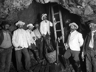 Mr Meardon and men in Bonmahon Mines