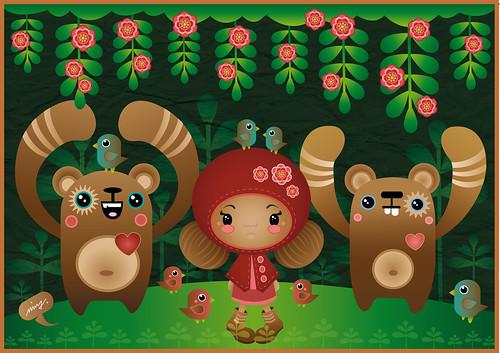 forestfriends by rosakatze