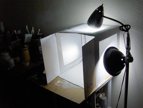 Ominous Light Box Setup by Whiskers and Tea