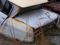 abandoned Citroen Ami (Dave* Seven One) Tags: 6 rot history abandoned nature neglect rust time decay citroen rusty ami forgotten past dents fallingapart