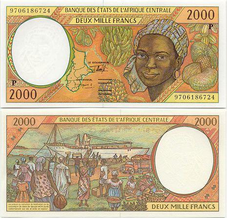 2000 francs Chad Pick 603P