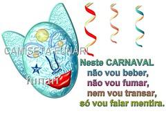 mascara e frase de carnaval
