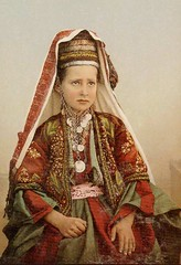 Girl of Bethlehem - Palestine - 1887 (intasko) Tags: old portrait color history girl vintage rouge liberty freedom israel photo justice eyes child shot palestine islam zurich culture free save christian east vision arab arabe coloring tradition oriental middle bethlehem fille vue dignity couleur gaza regard colonization occupation chretien  bethleem charq photoglob favekids