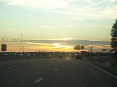 I-40 drive (courtneysmilestoo) Tags: sunset memphis highways highwaysunset