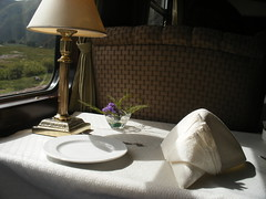 Place Setting on the Train