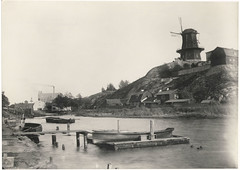 Mill at Hammarby lake, Stockholm, Sweden (Swedish National Heritage Board) Tags: houses water buildings river boats windmills mills riksantikvarieämbetet skanskvarn theswedishnationalheritageboard carlcurman