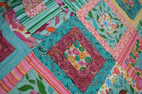 Ragged squares quilted 1