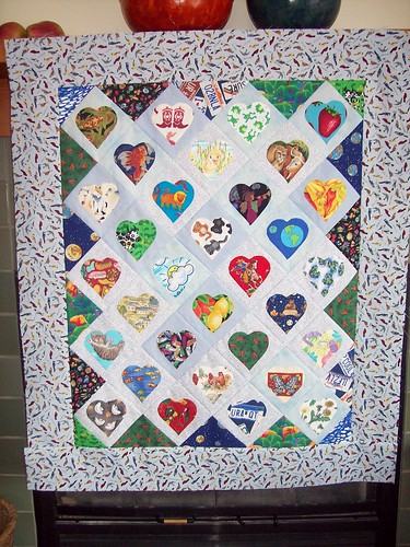 """Conversation Hearts"" Quilt Top"