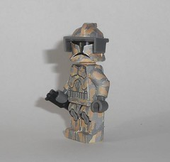 desert assault scout (Exxtrooper) Tags: auto 30 modern gun lego arm legs fig side contest 9 scout made company figure cw sw torso wars custom clone camoflage base decals atar cammo apply tlc sidearm vid vidgamer customation assautlt