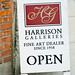 Harrison Galleries: sandwich board