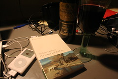 43/365 The Rest of my Night (SeanOConnor2010) Tags: ipod wine desk 365 cluttered williamfaulkner thesoundandthefury project365 43365 castillodemontearagon p3652009
