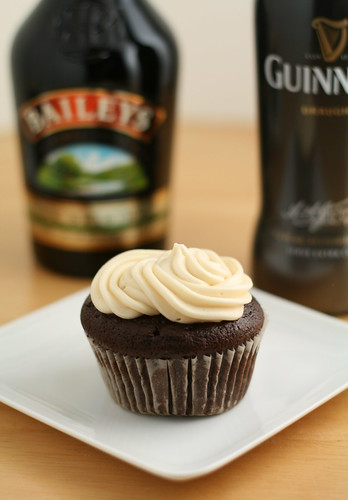 Chocolate Guinness Cupcake with Bailey's Frosting