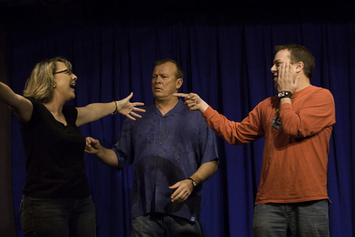 Amanda Armitage, Gary Best, Travis Greer on stage, 2009