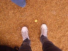 Me playing golf (joking...) Tags: feet ball golf bark centreparcs