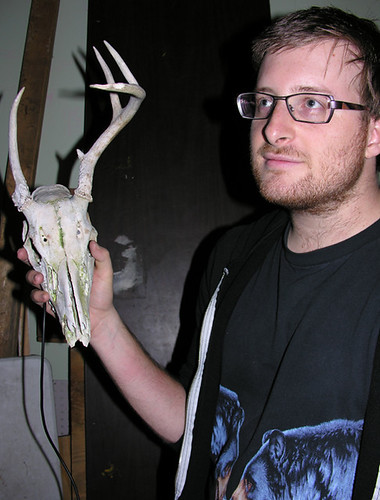 BONELUST - Dave Armitage AKA No Limit Cycle with His Deer Skull Microphone
