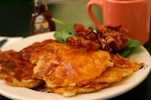 Mac n' Cheese Pancakes at Shopsins