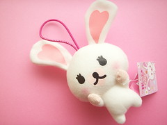 Kawaii Mascot Mini Plushie Bunny Rabbit Doll Mofy Cute Toy Japan (Kawaii Japan) Tags: pink white cute rabbit bunny smile animal japan asian toy happy japanese doll heart little character small adorable mini charm plush mascot collection ornament tiny kawaii plushie strap collectibles usagi collector bagcharm cawaii mofy