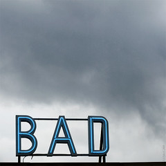 Bad (R A Pyke (SweRon)) Tags: sky sign square neon cloudy bad olympus e410 sweron swedishforswimmingpool