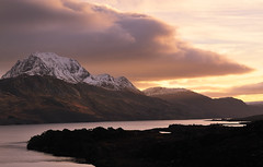 Loch Maree, Letterewe, Scotland. (Jonathan Woods Photography) Tags: trees shadow snow mountains water clouds sunrise scotland highlands loch maree lochmaree 2470mm the4elements letterewe d700 ishkolorkraft vosplusbellesphotos
