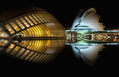 CAC: A Space Odyssey 2 (belthelem) Tags: trip travel reflection valencia nikon nightshot nocturna cac viajar t100 lhemisfric 100faves 50faves d80 ciudadartesyciencias palaudelesartsreinasofa goldenart phvalue oracoob oracosm oracope bestofmywinners