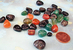 Agate Pebble Mix (Kick Rox Jewelry) Tags: red black green agate beads mix stones craft pebble etsy supplies assortment assorted dyed gemstone
