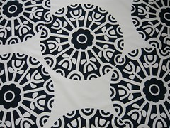 motif up close (Prints Charming Original Fabrics) Tags: print design 60s funwheel