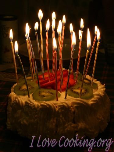 Torta farcita alla frutta – Birthday cake