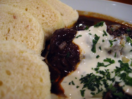 Beef Goulash and Dumplings