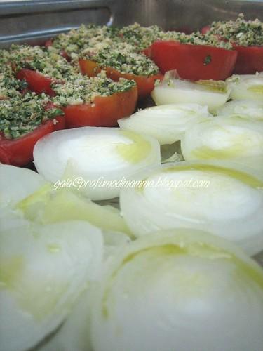 Pomodori e cipolle