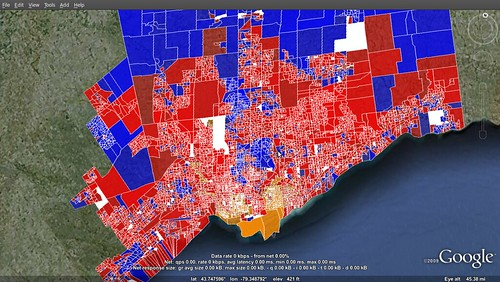 Greater Toronto - 2008 election results per poll